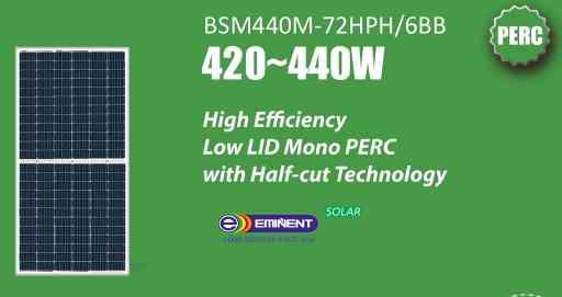 Tấm Pin Solar BSM440M-72HPH 6BB 420-440W