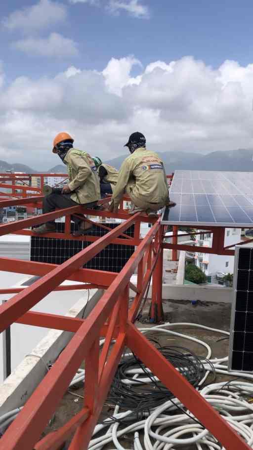 Hệ Điện Mặt Trời 40kW hòa lưới Tại Căn Hộ Ngọc Anh - Hoàng Diệu -  Nha Trang