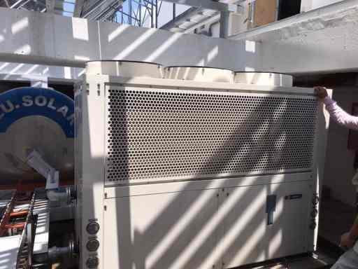 Bơm nhiệt lắp tại KS Parama - 100 Hùng Vương - Nha Trang